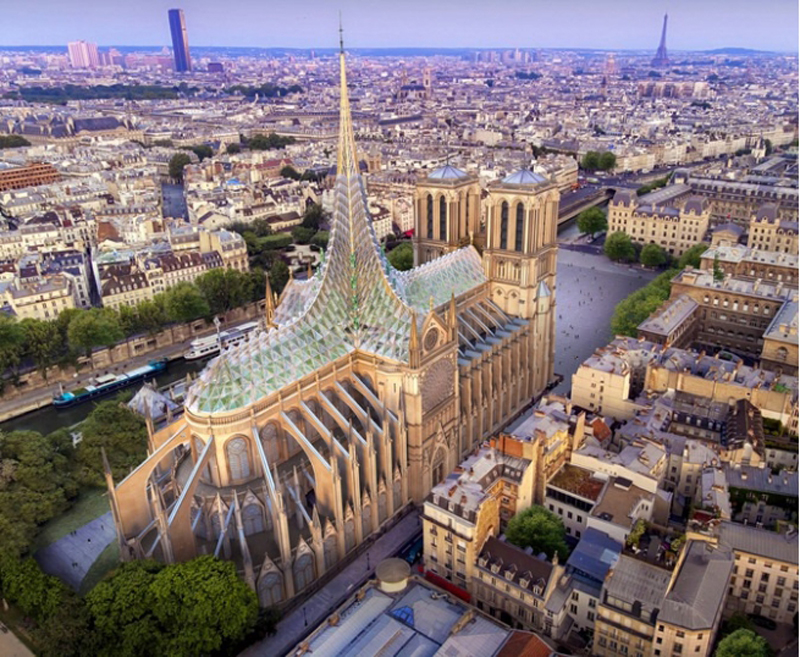 Analysis the steel structure techinical from the renovation of Notre Dame de Paris