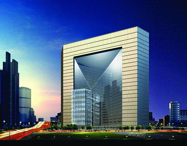 Beijing New Poly tower of steel structure engineering in China