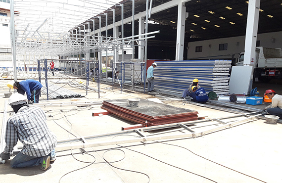 Fabrication requirements of steel structure temporary prefab house