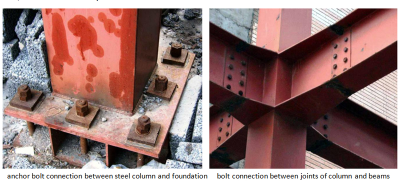 Fastener connection of steel structure