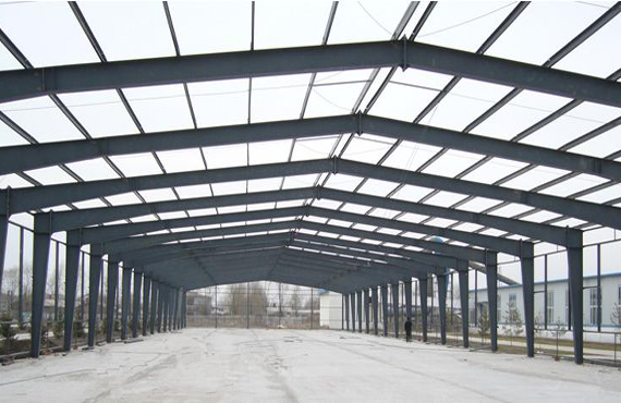 Single-storey portal steel structure workshop