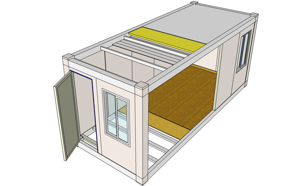 Steel Structure Modular Container House Building Composition