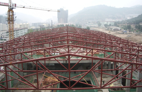 Steel structure roof trusses manufacturing process